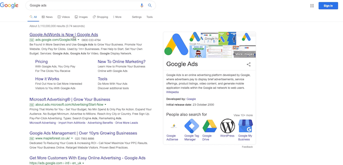 finding the login for google ads