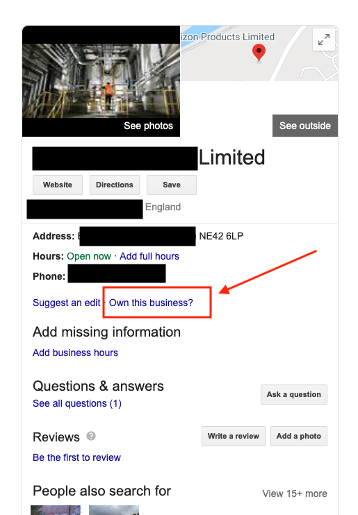 Google my business listing setting up