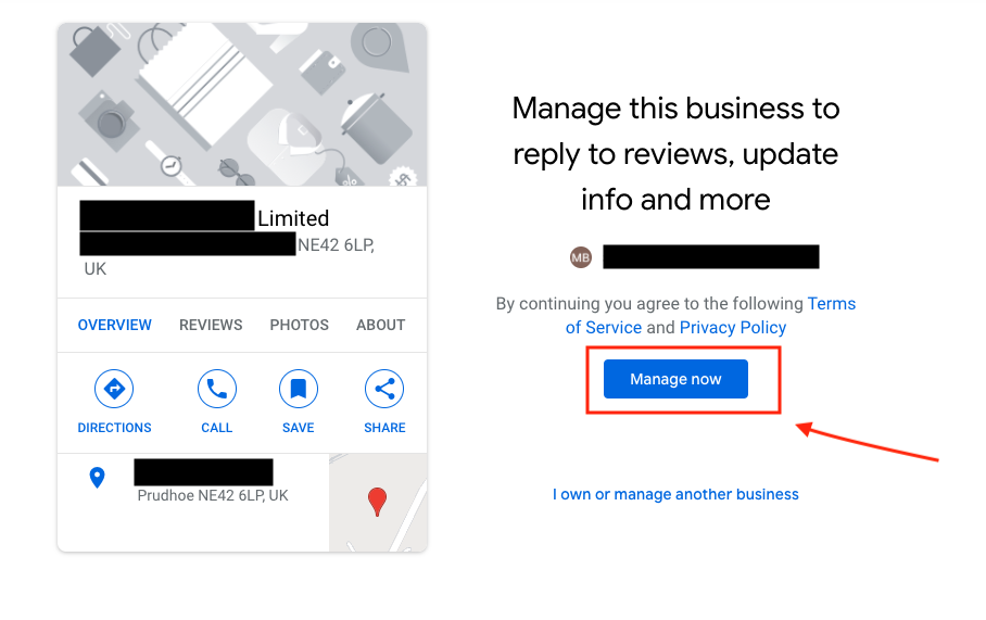 Google my business listing manage now