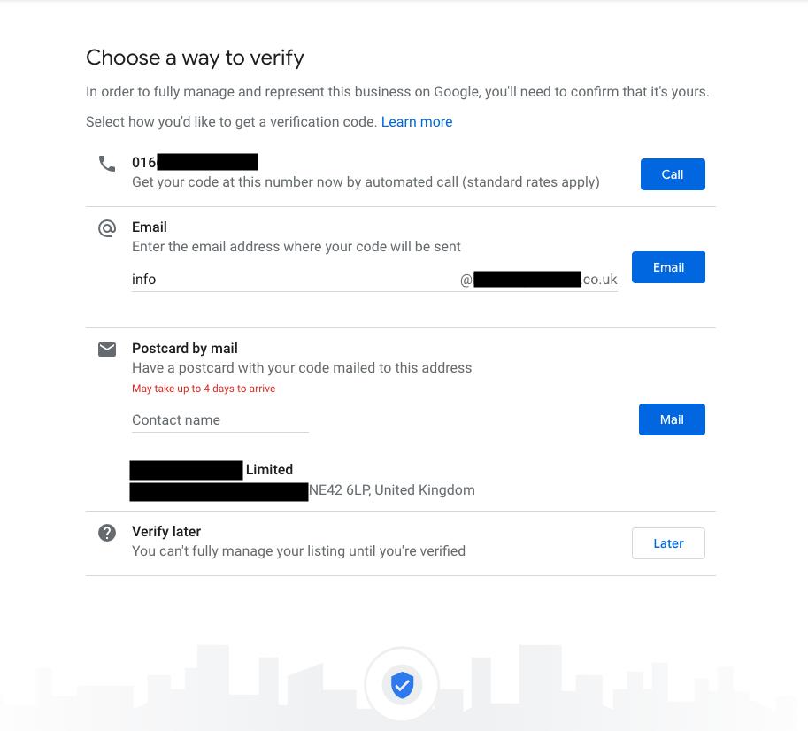 Google my business listing verifying